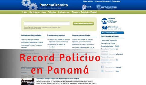 récord policivo en Panamá
